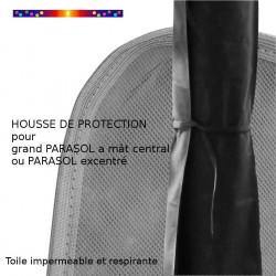 Housse pour parasol 250 cm x Largeur 50 cm : détail de la sangle de fermeture