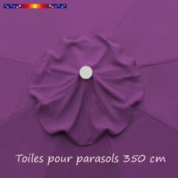 Toile de remplacement pour parasol 350 cm Violette :  perçage central et cheminée pour le vent