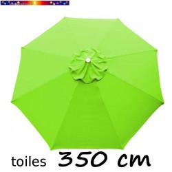 Toile de remplacement pour parasol 350 cm Vert Lime vue de dessus