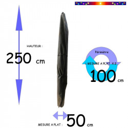 Housse pour parasol 250 cm x Largeur 50 cm : descriptif