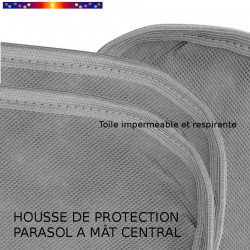 Housse pour parasol 250 cm x Largeur 50 cm : qualité de la toile et des coutures