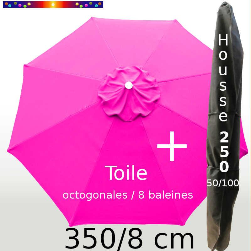 Pack : Toile 350/8 Rose Fushia + Housse 250x50/100