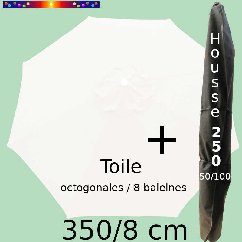 Pack : Toile 350/8 + Housse 250x50/100