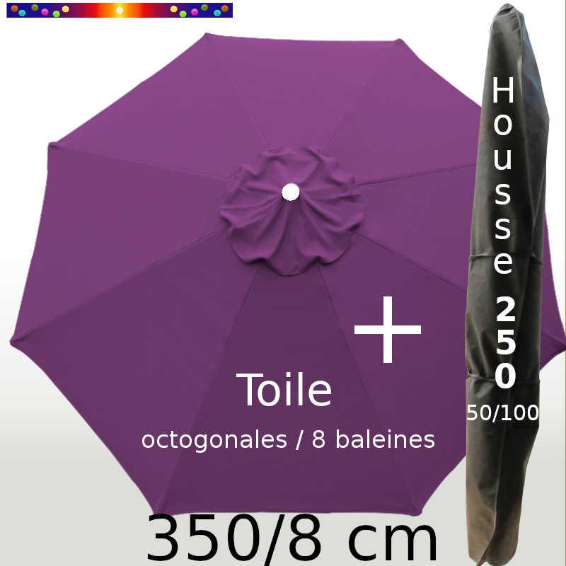 Pack : Toile 350/8 Violette + Housse 250x50/100