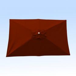 Toile pour parasol rectangle 2x3 polyester Terracotta