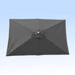 Toile pour parasol rectangle 2x3 polyester Gris Souris