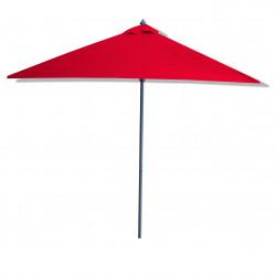 Parasol Lacanau Rouge Bordeaux 200 cm x 200 cm Alu : vu de coté