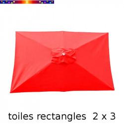 Toile de remplacement pour parasol rectangle 2x3 Rouge Coquelicot