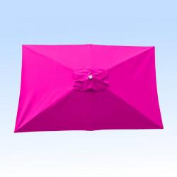 Toile pour parasol rectangle 2x3 polyester Rose Fushia