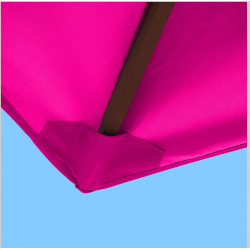Toile pour parasol rectangle 2x3 polyester Rose Fushia : coté bas de la baleine