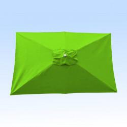 Toile pour parasol rectangle 2x3 polyester Vert Lime