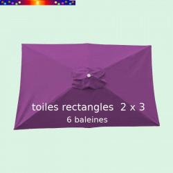 Toile de remplacement pour parasol rectangle 2x3 Violette