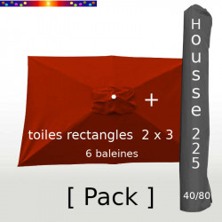 Pack : Toiles 200x300 Terracotta + Housse 225/40
