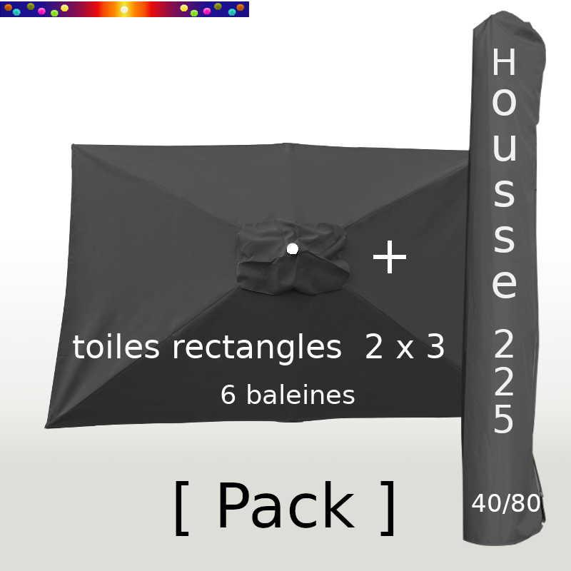 Pack : Toile 200x300 Gris Souris + Housse 225/40