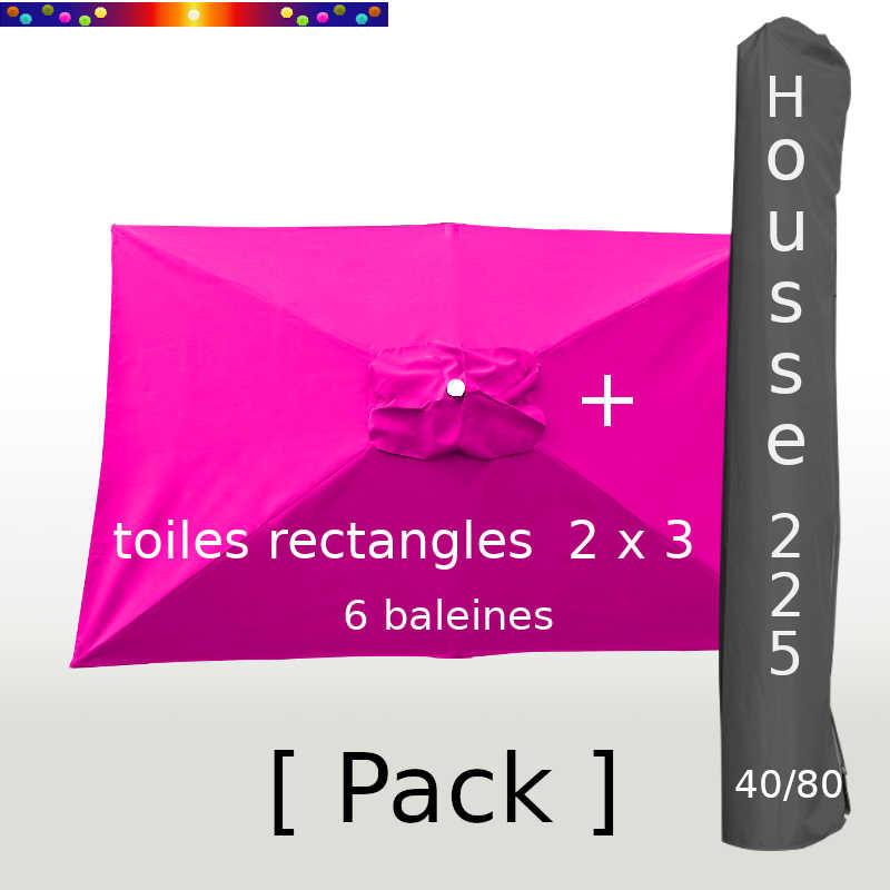 Pack : Toile 200x300 Rose Fushia + Housse 225/40