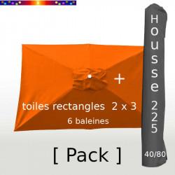 Pack : Toile 200x300 Orange Capucine + Housse 225/40