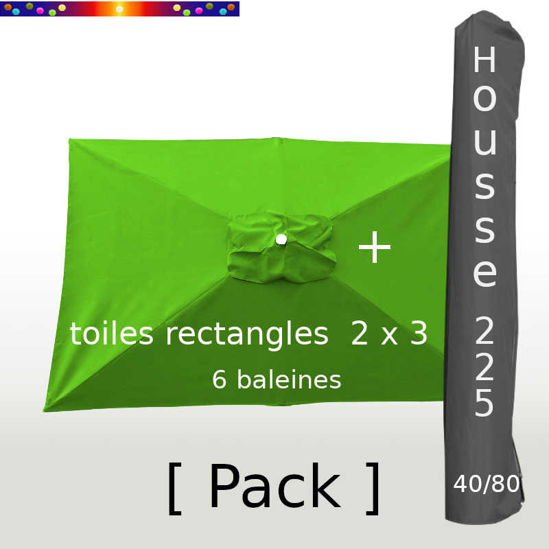 Pack : Toile 200x300 Vert Lime + Housse 225/40