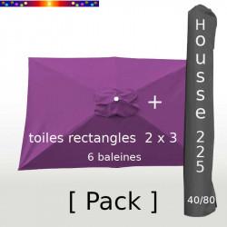 Pack : Toile 200x300 Violette + Housse 225/40