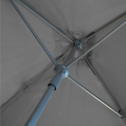 Parasol Lacanau Gris Souris 200 cm x 200 cm : détail du système d'ouverture