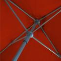 Parasol Lacanau Terracotta 200 cm x 200 cm : détail du système d'ouverture