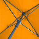 Parasol Lacanau Orange 200 cm x 200 cm Aluminium : détail du système d'ouverture