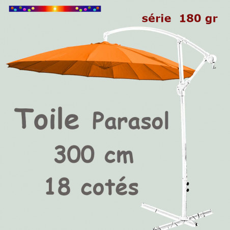 Toile Orange 18 baleines 300/18 cm