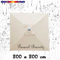 Parasol Biarritz Blanc Ecru Nature 2X2
