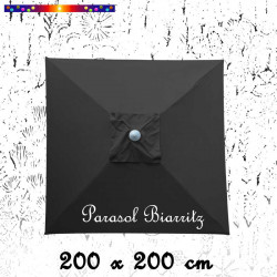 Parasol Biarritz Gris Anthracite 2x2