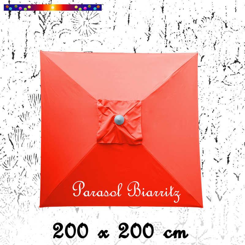 Parasol Biarritz Rouge Coquelicot 2x2