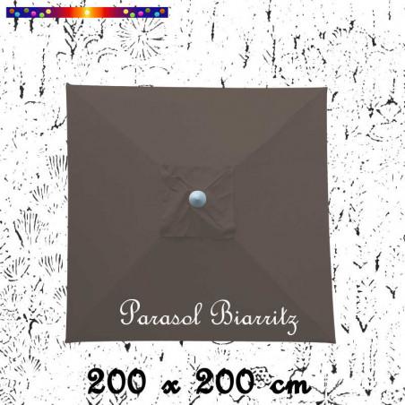 Parasol Biarritz Gris Taupe 2x2