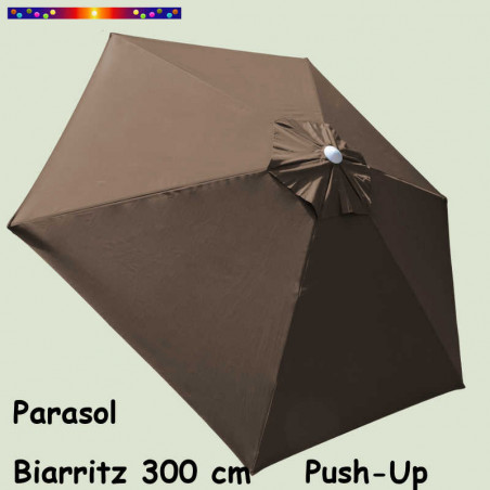 Parasol Biarritz Gris Taupe 300 cm Alu