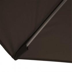 Parasol Biarritz diamètre 300 cm Gris Taupe : détail du fourreau de fixation de la toile