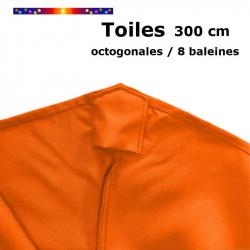 Toile Orange Capucine pour parasol octogonal 300 cm : le fourreau