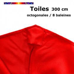 Toile de remplacement Rouge pour Parasol Octogonal 300 cm