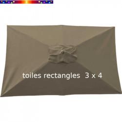 Toile de remplacement pour parasol rectangle 300x400 cm couleur Chamois