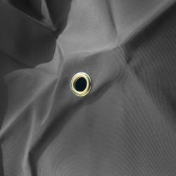 Toile de remplacement Gris Flanelle pour parasol Octogonal 350 cm à mât central : détail de l'œillet central
