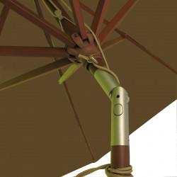 Parasol Lacanau Chamois 300 cm Bois : détail de l'inclinaison