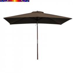 Parasol Lacanau Chamois 200 x 300 cm Bois vu de face
