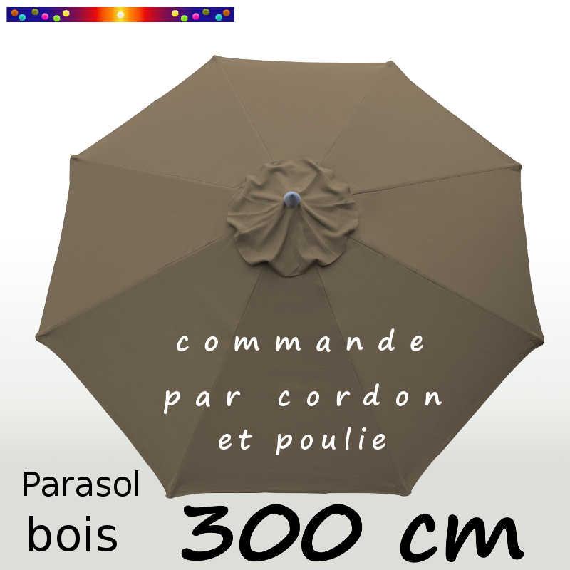 Parasol Lacanau Chamois 300 cm Bois