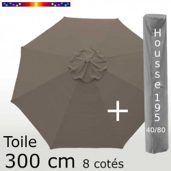 Pack : Toile 300/8 Chamois + Housse 195x40/80