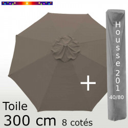 Pack : Toile 300/8 Chamois + Housse 201x40/80