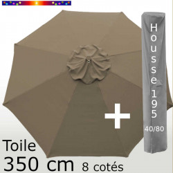 Pack : Toile 350/8 Chamois + Housse 195x40/80