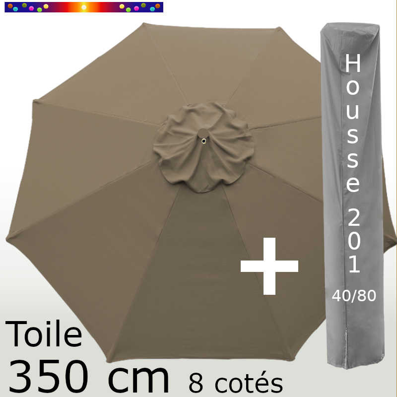 Pack : Toile 350/8 Chamois + Housse 201x40/80