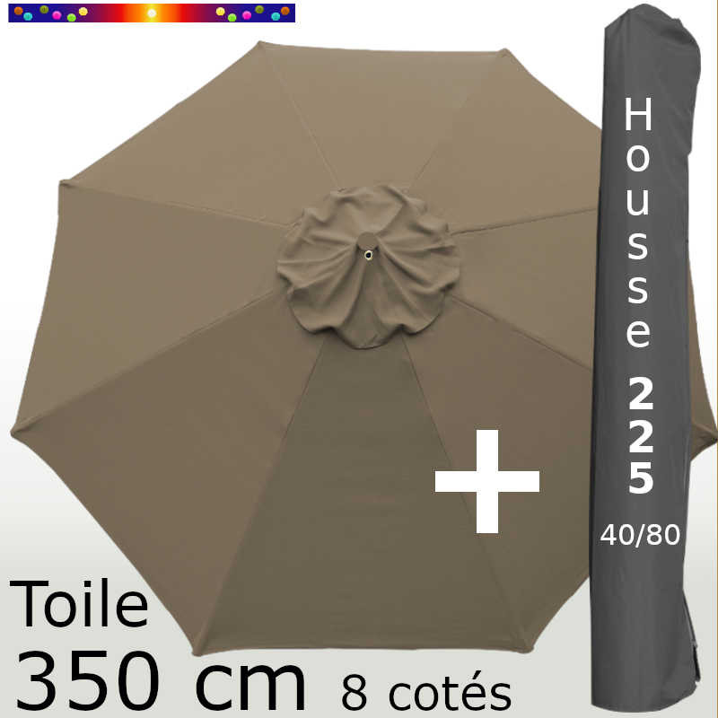 Pack : Toile 350/8 Chamois + Housse 225x40/80