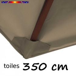 Toile de remplacement 350 cm couleur Chamois : détail du fourreau de fixation en bout de baleine