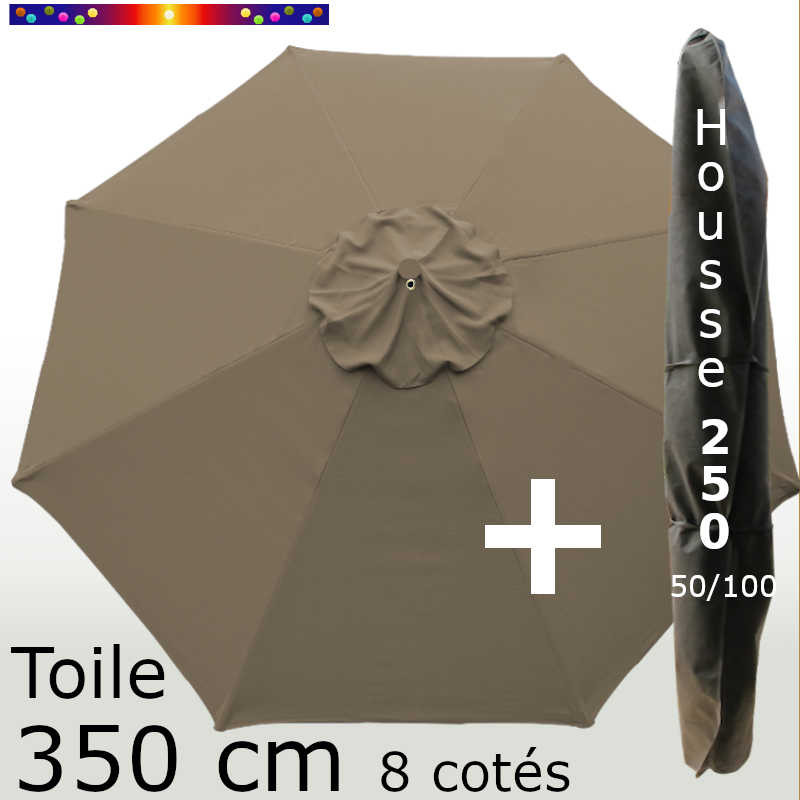Pack : Toile 350/8 Chamois + Housse 250x50/100