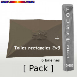Pack : Toile 200x300 Jaune Bouton d'Or + Housse 225/40