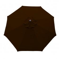 Parasol Lacanau rond (octogonal) Diamètre 300 cm en Aluminium à manœuvre par manivelle toile Chocolat : parasol vu de dessus