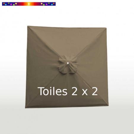 Toile second choix Carré 2x2 Toile de remplacement pour parasol carré 2x2 Taupe