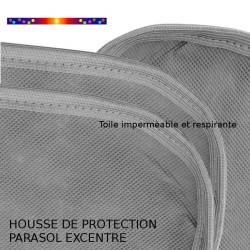 Housse pour parasol 275 cm x Largeur 57 cm : détail des coutures de la toile